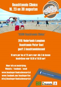 Flyer Beachtennis Clinics